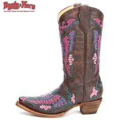 Corral Chocolate Butterfly Cowgirl Boots [A1112] - $109.99 : Boots & More: Top Notch Boots at Rock Bottom Prices, We Price Match
