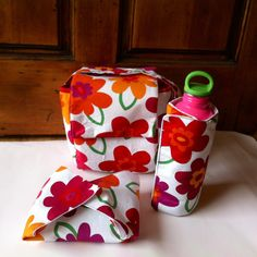 Insulated Lunch Bag Set Lunch Bag Bottle Wrap by MyaCdesign