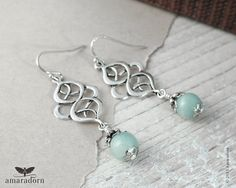 Hey, I found this really awesome Etsy listing at https://www.etsy.com/listing/237315066/amazonite-earrings-seafoam-earrings-dark
