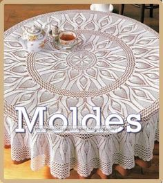 Crochet doily - crochet doilies - Crochet tablecloth - Home decor - White crochet doilies - Handmade tablecloth by DoiliesbyElena on Etsy Crochet Patterns For Beginners, Knitting Patterns Free, Free Pattern, Baby Knitting, Pattern Ideas, Knit Patterns, Crochet Tablecloth Pattern, Crochet Doilies, Mantel Redondo A Crochet