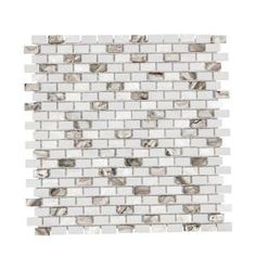Jeffrey Court, Lucky Cove 12.25 in. x 12 in. x 8 mm Glass and Shell Mosaic Wall Tile, 99593 at The Home Depot - Mobile