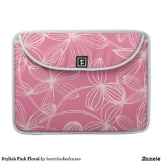 Stylish Pink Floral Sleeve For MacBooks