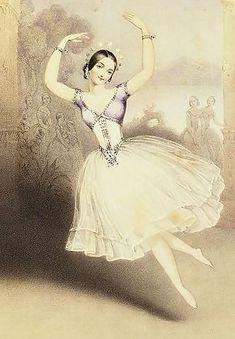 Ballet art: ballerina carlotta grisi in giselle