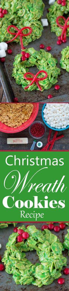 Easy to Make Christmas Wreath Cookies Recipe