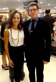 """@cheeky_geeky @MsDC2011 Ashley Boalch with """"Geek 2 Chic"""" producer Mark Drapeau of Microsoft"""