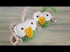 ▶ (re-upload - crochet) How To - Crochet A Small Owl - YouTube