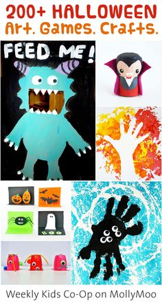 210 great games, activities, crafts and art projects from the Weekly Kids Co-Op | on MollyMoo