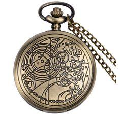 Bronze Steampunk Style Fashion Quartz Pocket Watch
