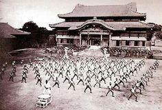 Karate pre WWII at Shurijo the palace in Okinawa, Japan. #TBT #capoeira #Yudansha #mma #TopTeam #okinawa #Japan #bjj #judo #arnis #wrestling #kickboxing #boxing #muaythai #escrima #selfdefense #fitness #nutrition  #champion  #mestremmagear #ufc #dance #music #brazil