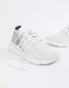 size 40 4a632 3aead adidas Originals EQT Support Mid ADV Sneakers In White CQ2997