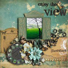 """Pour utiliser mes papiers """"volets"""" et insérer les paroles de Métallica """"Open mind for a different view"""" ..."""