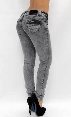$52.95 Gray Acid-Wash Skinny Jean