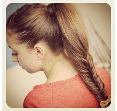 Love doing this hairstyle on my friend with really thick hair | CGH
