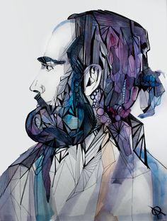 Watercolor beard