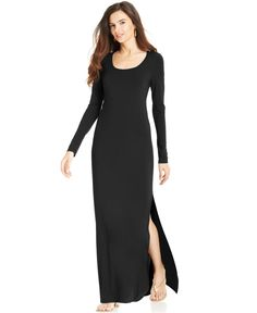 Buy Karen Kane Women's Black Long-Sleeve Slit Maxi Dress, starting at £81. Similar products also available. SALE now on!