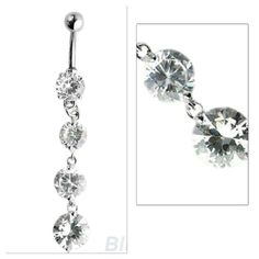 Long belly button piercing About 2.5 - 3 inches long. Surgical steel . Accessories