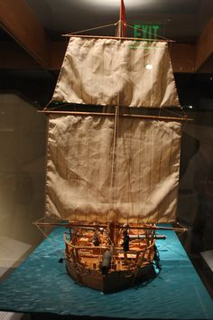 A boat model of a boat that had its own display room.  If I remember correctly, it was dredged up from the Potomac.  07/2011.