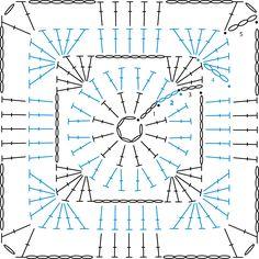 Granny square Círculo en un cuadrado                                                                                                                                                                                 Más