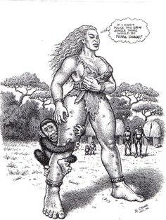 Jungle Girl   Rober Crumb #erotic #art