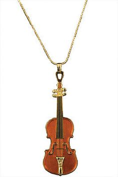 מוצר - Stradivarius Violin Necklace 60 ש''ח Music Necklace, Music Jewelry, Cute Jewelry, Jewelry Necklaces, Pendant Necklace, Stradivarius Violin, Instruments, Rings For Girls, Rings Cool