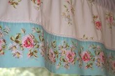 Shabby chic curtain, valance