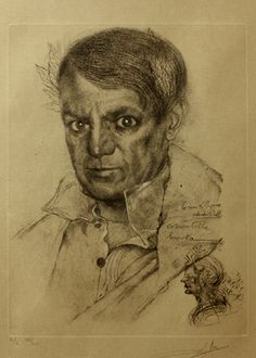 Salvador Dali drawing of Picasso