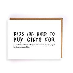 Funny Dad Birthday Card Husband From Daughter Fathers Day Kids Gift For Him Greeting Cards GC232