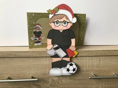 Excited to share this item from my shop: Younger Football referee, christmas card, grettimg cards, christmas on the shelf card and envelope, Little Christmas, Christmas Cards, Football Referee, Bank Holiday Weekend, Printer Paper, Shelf Design, Gift Vouchers, Card Kit, Card Stock