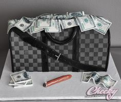 Louis Vuitton Cake by Cheeky Confectionery..nyc. she is amazingly talented!