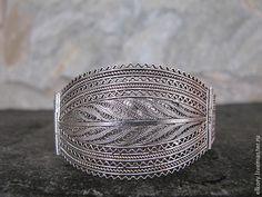 Купить или заказать Серебряный браслет, филигрань в интернет-магазине на Ярмарке Мастеров. Ажурный, кружевной серебряный браслет в восточном стиле, выполнен в технике Йеменской…