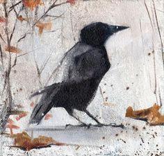 Autumn Crow by Anna Tikhomirova