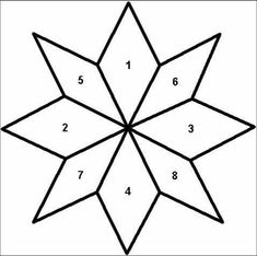 8 pt. star, 4 segments wider than the other 4