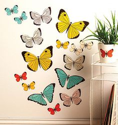 Pastel Butterflies Peel and Stick Wall Decals - Wall Sticker Outlet