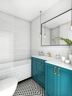 Mieszkanie - Gdańsk Oliwa - Mała łazienka na poddaszu w bloku w domu jednorodzinnym bez okna, styl skandynawski - zdjęcie od Autors.KA - homebook
