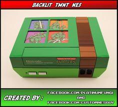 Back-lit Teenage Mutant Ninja Turtles NES Mod on Global Geek News.