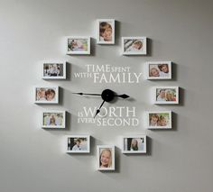 Creating a photo wall clock is simple if you know the secret. Find out how. #ULClocks Time spent with family is worth every second.