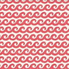 Papier peint - Thibaut - Shore Thing - Rouge