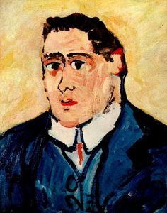 Guillaume APOLLINAIRE, painted by  Maurice De VLAMINCK