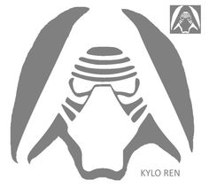 kylo ren pumpkin stencil - Star Wars Halloween Pumpkin Carving Patterns