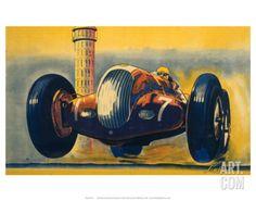 Crooped version of Crystal Palace Road Circuit, LMS, c.1938 Print at eu.art.com