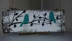 Check out this item in my Etsy shop https://www.etsy.com/listing/291129275/freehand-birds-on-a-limb-pallet-sign