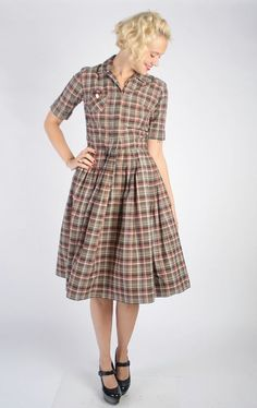 1950s Dress // vintage 50s // Agnes Day Dress by dethrosevintage, $72.00