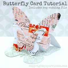 Hi Everyone Welcome to my Butterfly Easel Card tutorial. I have provided step-by step instructions below on how to create the card base plus a free downloadable .svg cut file for those of you who like to use digital die-cut machines. There are also a couple of hints for Cameo users who may be new to using files not purchased in the Silhouette Store. If you do not have a digital die cut machine you can download a pdf file here and create a hand-cut template - sizing instructions included…