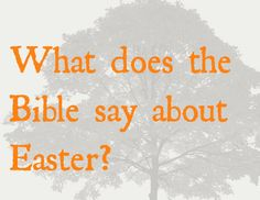 What does the Bible say about Easter?      http://www.jw.org/en/bible-teachings/questions/bible-about-easter/
