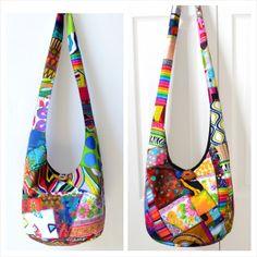 MADE TO ORDER Hobo Bag Patchwork Crazy Quilt Sling by 2LeftHandz, $47.00
