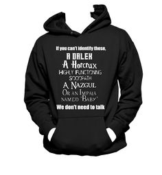A different take on a fandom crossover, The Nerd's To Do List on a classic Hanes Hooded Sweatshirt. Color and sizing options available. All light color shirts w