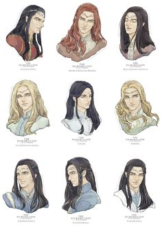 Credit to original artist Tolkien Books, J. R. R. Tolkien, High Fantasy, Fantasy Art, Character Inspiration, Character Art, Das Silmarillion, Legolas And Thranduil, O Hobbit