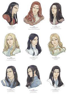 Credit to original artist Tolkien Books, J. R. R. Tolkien, High Fantasy, Fantasy World, Character Inspiration, Character Art, Das Silmarillion, Legolas And Thranduil, O Hobbit