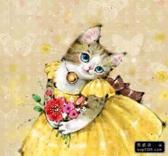 So terrifically darling! #cats #art #cute