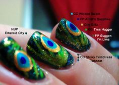 Peacock Feather Nail Art * | Polished Love